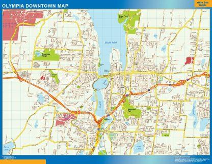 Mapa Olympia downtown gigante