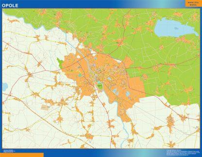 Mapa Opole Polonia gigante
