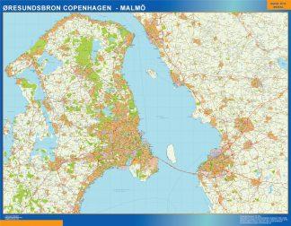 Mapa Oresundsbron en Dinamarca gigante