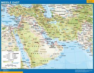 Mapa Oriente Medio gigante