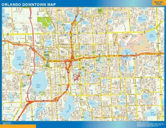 Mapa Orlando downtown gigante