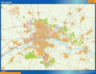 Mapa Orleans en Francia gigante