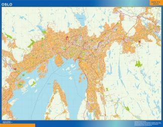 Mapa Oslo en Noruega gigante