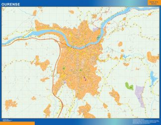 Mapa Ourense callejero gigante