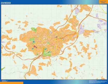 Mapa Oviedo callejero gigante