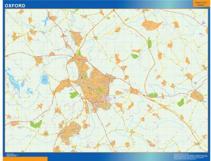 Mapa Oxford gigante