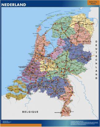 Mapa Paises Bajos gigante