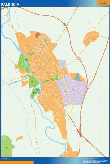 Mapa Palencia callejero gigante
