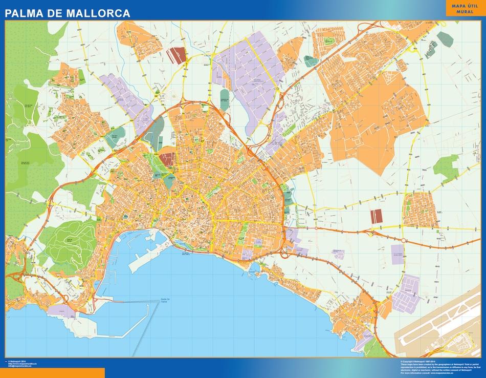 Callejero Mapa De Las Palmas.Mapa Palma Mallorca Callejero Grande