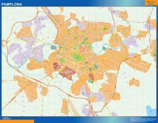 Mapa Pamplona callejero gigante