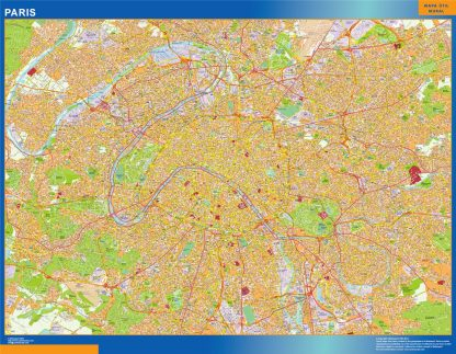 Mapa Paris en Francia gigante