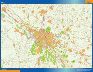 Mapa Pau en Francia gigante