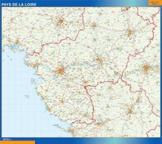 Mapa Pays De La Loire en Francia gigante