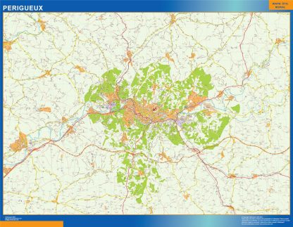 Mapa Perigueux en Francia gigante
