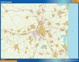 Mapa Perpignan en Francia gigante