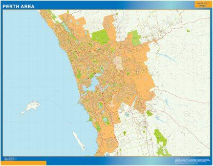 Mapa Perth Area Australia gigante