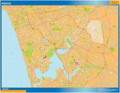 Mapa Perth Australia gigante