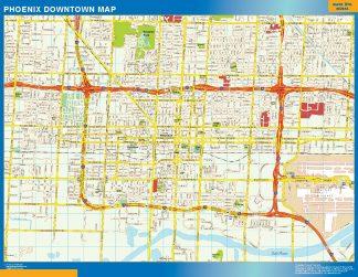 Mapa Phoenix downtown gigante