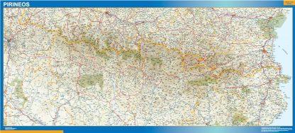 Mapa Pirineos gigante