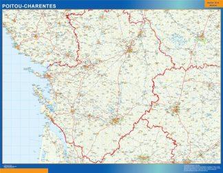 Mapa Poitou Charentes en Francia gigante