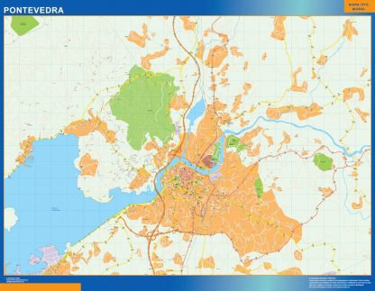 Mapa Pontevedra callejero gigante