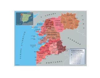 Mapa Pontevedra por municipios gigante