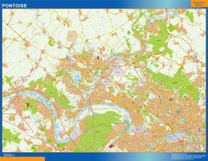 Mapa Pontoise en Francia gigante