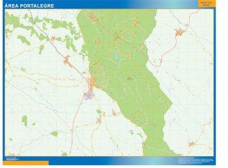 Mapa Portalegre área urbana gigante