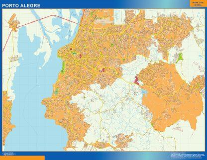 Mapa Porto Alegre Brasil gigante