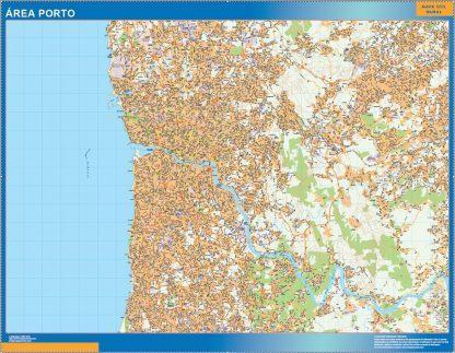 Mapa Porto área urbana gigante