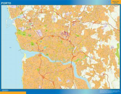 Mapa Porto en Portugal gigante