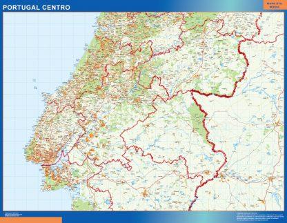 Mapa Portugal centro carreteras gigante