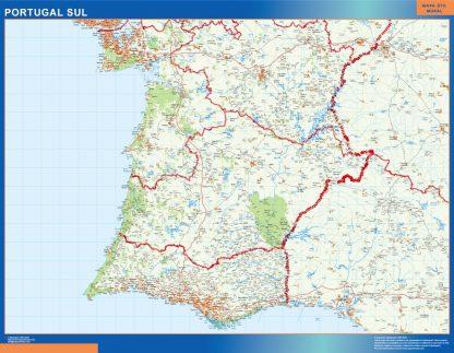 Mapa Portugal sur carreteras gigante