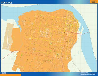 Mapa Posadas en Argentina gigante