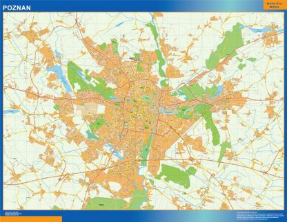 Mapa Poznan Polonia gigante