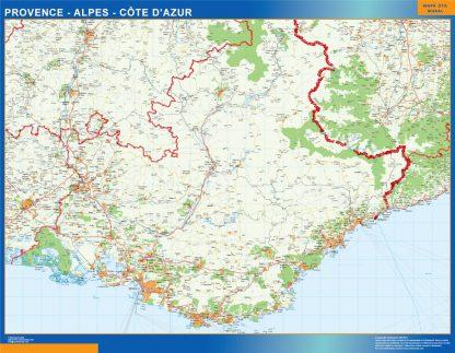 Mapa Provence Alpes Cote Azur en Francia gigante