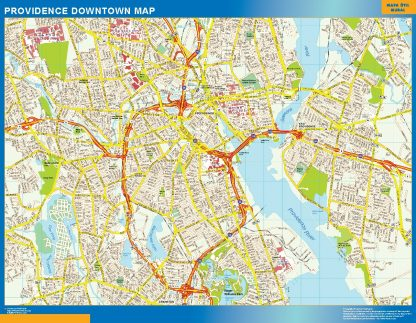 Mapa Providence downtown gigante
