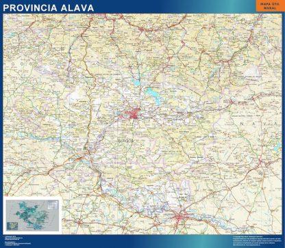 Mapa Provincia Alava gigante