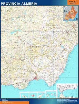 Mapa Provincia Almeria gigante