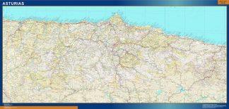Mapa Provincia Asturias gigante
