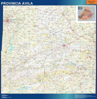 Mapa Provincia Avila gigante