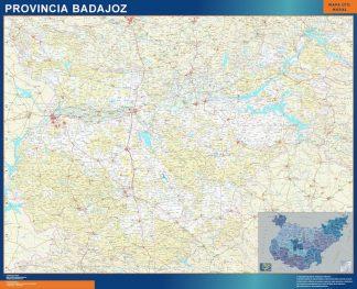 Mapa Provincia Badajoz gigante