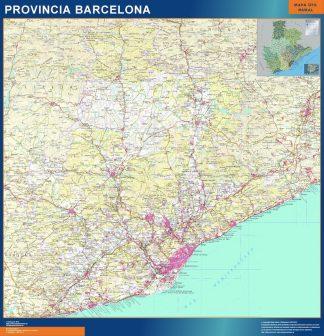 Mapa Provincia Barcelona gigante