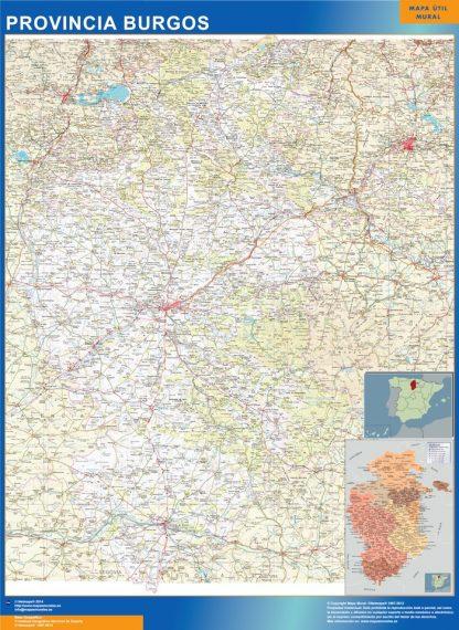 Mapa Provincia Burgos gigante