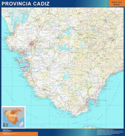 Mapa Provincia Cadiz gigante