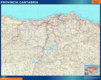 Mapa Provincia Cantabria gigante