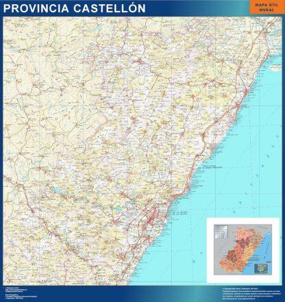Mapa Provincia Castellon gigante