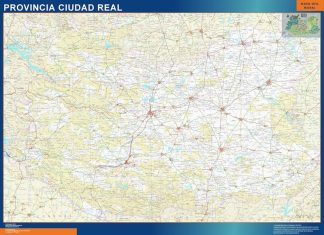 Mapa Provincia Ciudad Real gigante