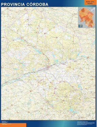 Mapa Provincia Cordoba gigante