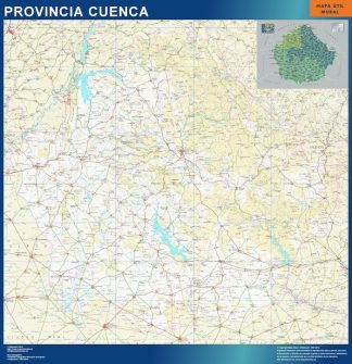 Mapa Provincia Cuenca gigante